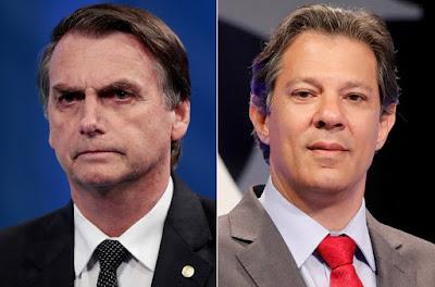 Bolsonaro e Haddad vão disputar a Presidência da República no 2º turno