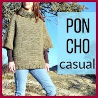 Poncho casual a crochet