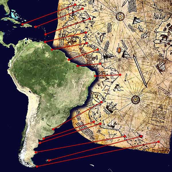 El mapa posee una exactitud imposible