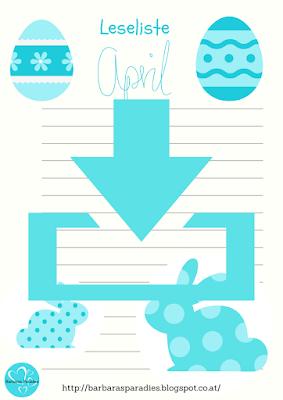 Neu im Download-Bereich: Leselisten für April in Farbe