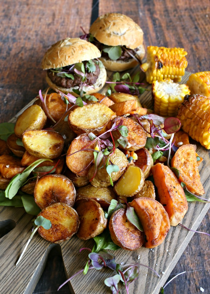 Ghee Roasted White and Sweet Potato Salad