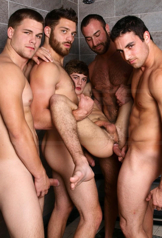 Gay men sex orgy