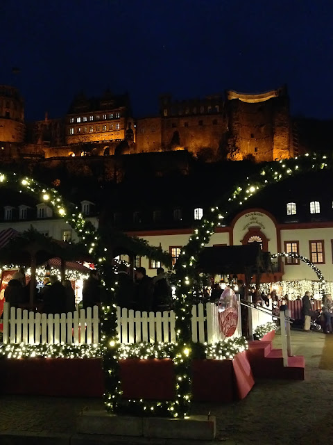 Heidelberg at Night During Christmas Market Season