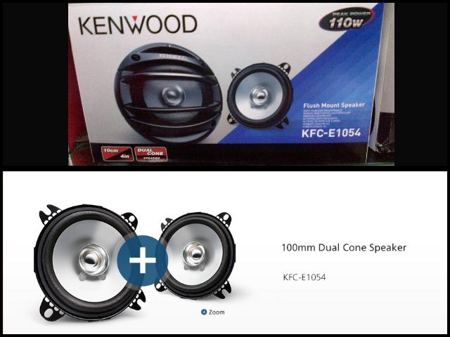 Kenwood Speaker - Aksesori Kereta