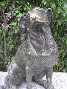 Pippo the Dog. Statue and Poem - Torre del Lago, Tuscany