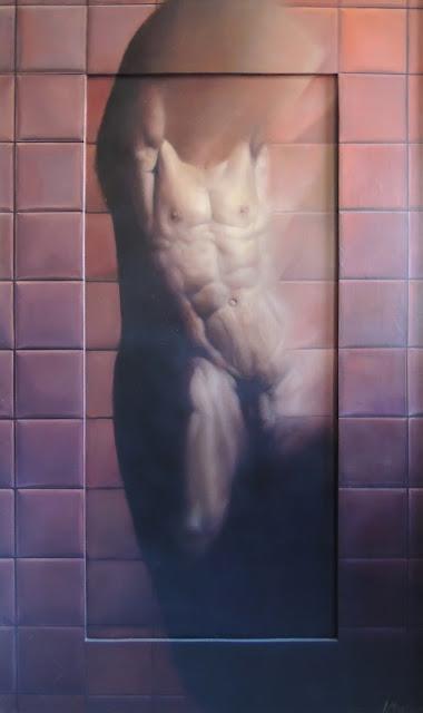 José Marí pintura surrealista arte desnudo masculino