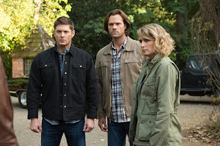 Supernatural Jared Padalecki and Jensen Ackles and Samantha Smith