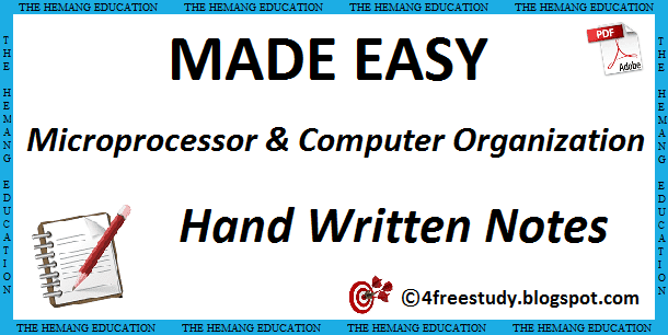 Made Easy Microprocessor and Computer Organization Hand Written Class Notes EC
