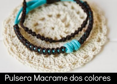 Como hacer un Brazalete de Macrame con 2 Colores