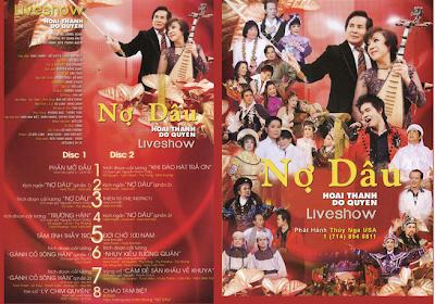 Cover DVD - Live Show Nợ Dâu (Hoài Thanh, Đỗ Quyên)