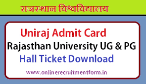Uniraj BA Part 1,Part 2,Part 3 Admit Card 2018 - Download Rajasthan University Admit Card 2018