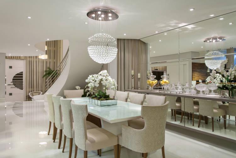 Decoracao De Sala Moderna ~ decoracao de sala retangular grandede cristal e dos plafons embutidos