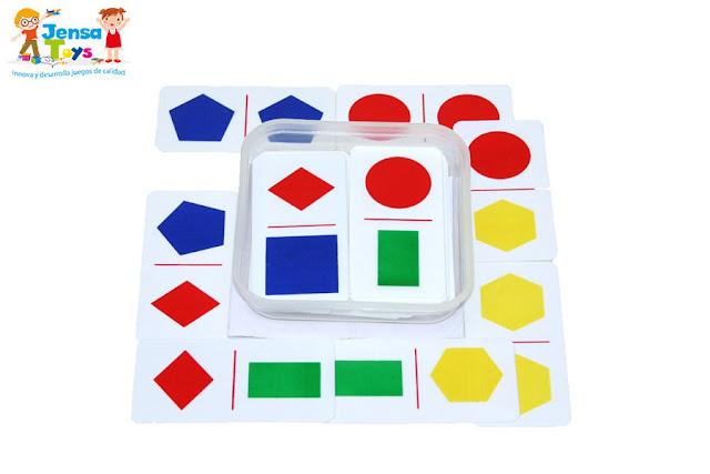 Domino figuras Geométricas 28 Piezas
