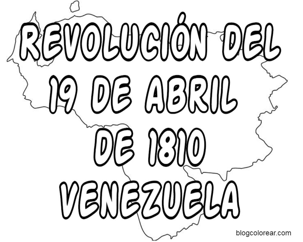 dibujos colorear 19 abril Venezuela | Colorear dibujos infantiles