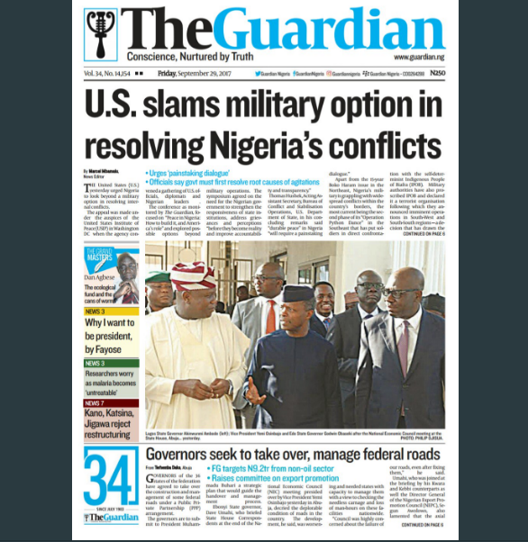 nigerian papers online The latest news in nigeria and world news the guardian nigeria newspaper brings you the latest headlines, opinions, political news, business reports and international news.