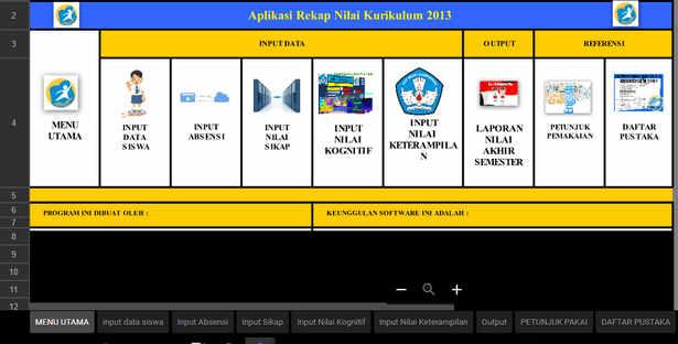 Aplikasi Rekap Nilai SD/MI Kurikulum 2013
