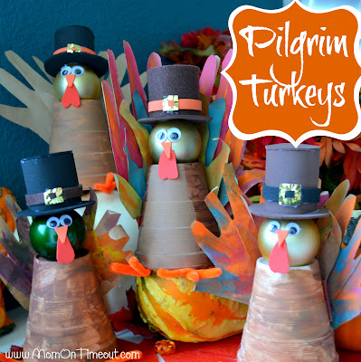 Get ready for Thanksgiving with these imaginative Pilgrim Turkeys!  A great craft for all ages. | MomOnTimeout.com