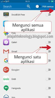 Cara mudah kunci aplikasi di android dengan pin
