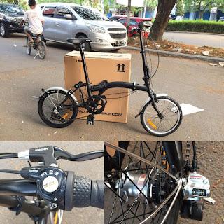 Sepeda Lipat Trifold 3 Speed looks like Brompton