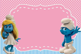 Free Smurf Girls Party Invitations.