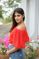 Rhea Chakraborty in Red Crop Top and Denim Shorts Spicy Pics ~  Exclusive 169.JPG