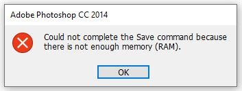 Could Not Complete The Save  Command Because There Is Not Enough Memory
