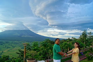 Nice clouds at Bicol's Mount Mayon