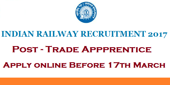 Indian Railway Jobs, Railway Vacancy, Indian Railway Apprentice vacancy