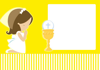 Girl´s First Communion,  Free Printable Invitations, Labels or Cards.