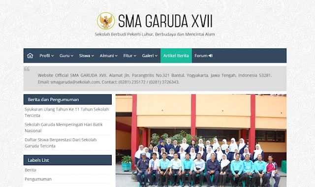 Website Sekolah Indonesia Blogger Template