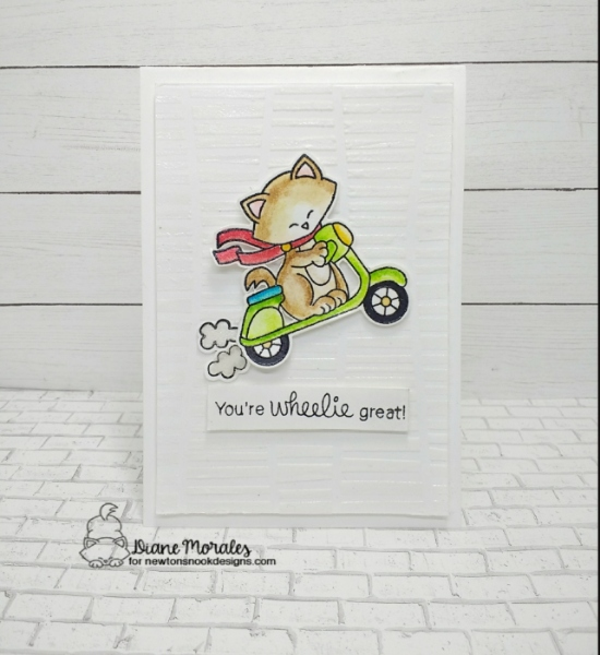 You're wheelie great by Diane features Newton Scoots By and Serene Stripes by Newton's Nook Designs; #newtonsnook