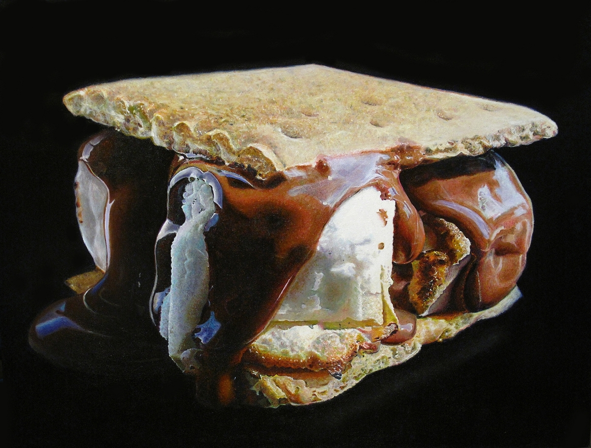 12-Smores-Mary-Ellen-Johnson-A-Sweet-Tooth-s-Dream-in-Food-Art-Paintings-www-designstack-co