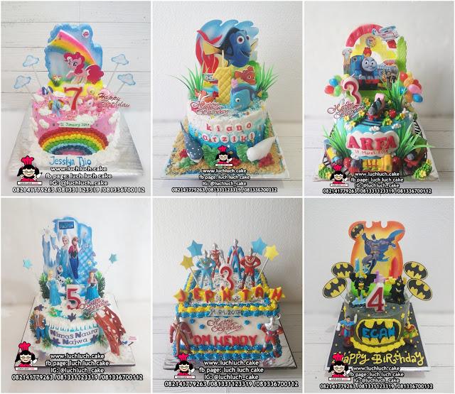 Kue Tart Hias Buttercream + Mainan