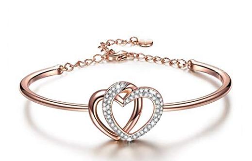 Heart Bracelets for Women Christmas Jewelry Gifts