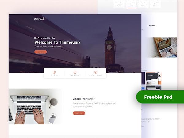 Download Themeunix PSD Template Free