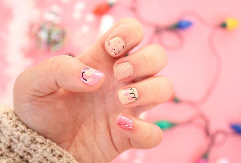 christmas lights nail art