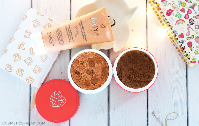 Peelingi myMAGICscrub, mySOSscrub i balsam GLOWme - nowości do pielęgnacji ciała od Miya Cosmetics