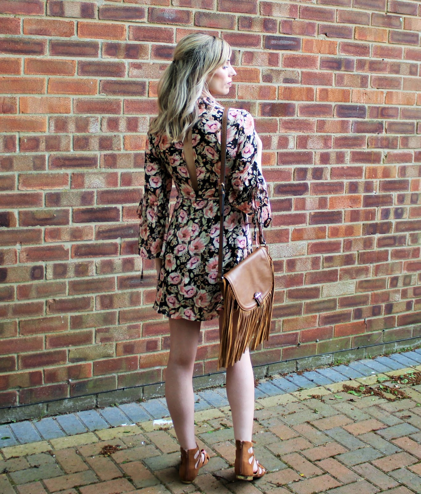 OOTD featuring a floral dress from Topshop and beaded bracelet from Lola Rose - 3