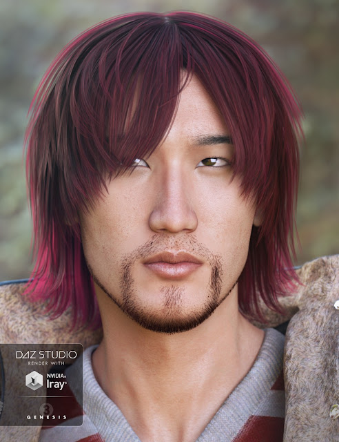 Peng Hair for Genesis 3 Male