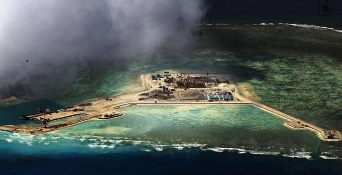 Lokasi Pangkalan militer China di Laut China Selatan