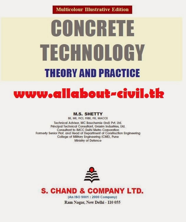 Concrete Technology Book By M.s. Shetty-