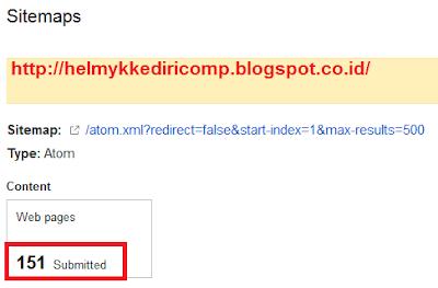 Cara Submit SiteMap keGoogle WebMaster