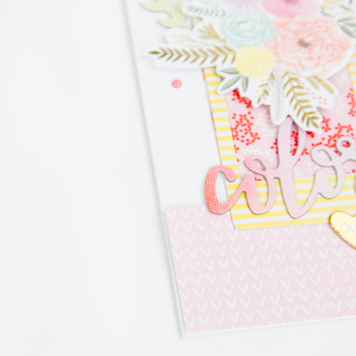 Layered Pink Paislee cards by @createoften