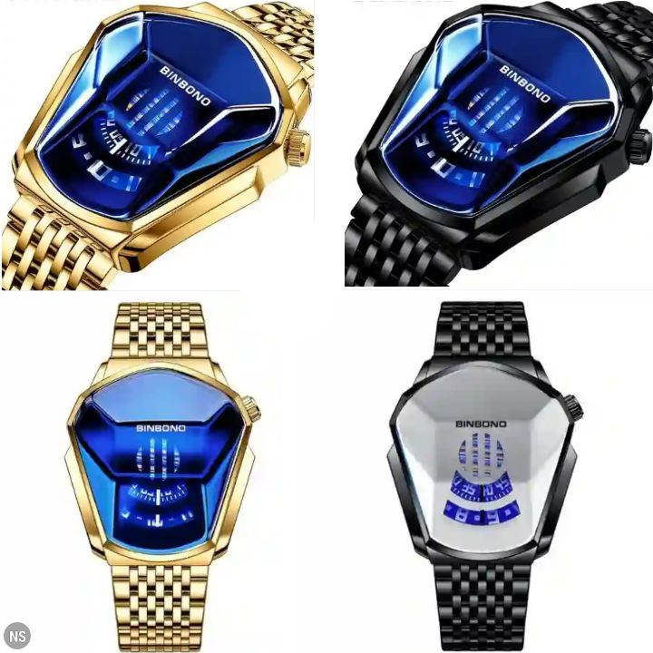 Binbond Watches: Men's Waterproof Chronographic Quartz Stainless Steel Wristwatch