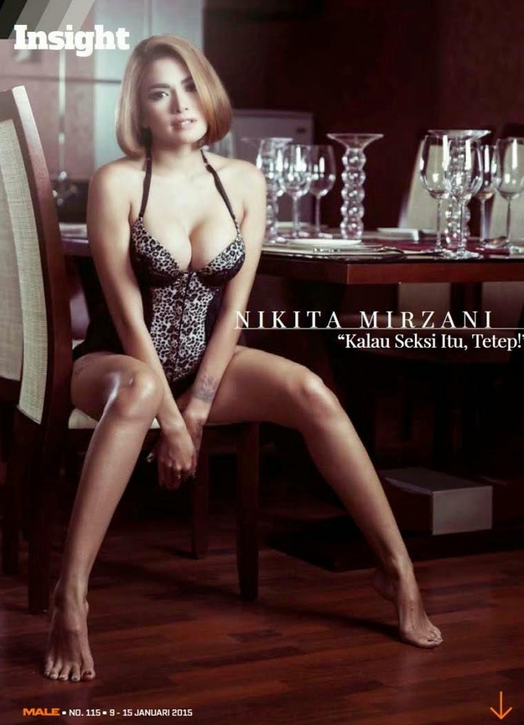 Hot Foto Nikita Mirzani di Majalah Male Januari 2015