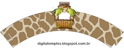 Wrappers para cupcakes de Safari Bebés.