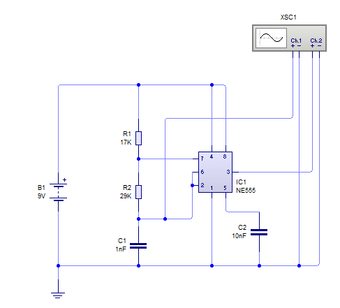 Share Ic 555 Astable Multivibrator