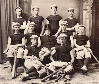 A photograph of the 1884 baseball team.