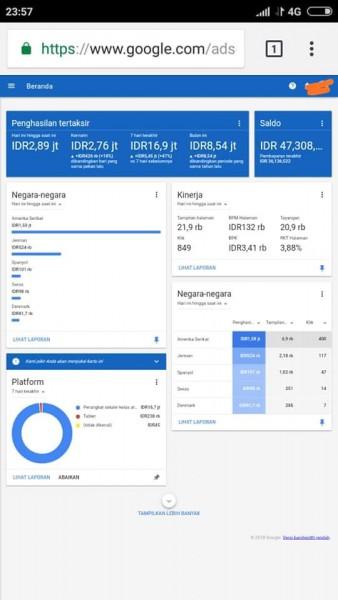 Cara Mendapatkan Uang Rupiah dari Google Adsense - [Bloggger]
