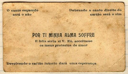 Método usado para fazer cantadas e paqueras no século passado